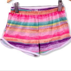 Circo rainbow stripe sleep shorts small
